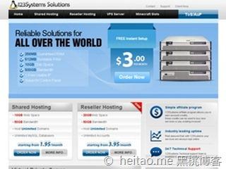 123systems – 128M/5GB/250GB OpenVZ 年付10美元 达拉斯