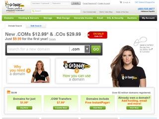 Godaddy – 最新特价优惠码 2.49美金