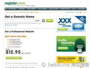 Register.com – 限时.COM优惠 5美元